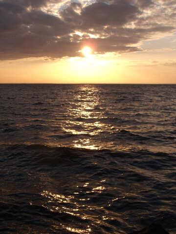 The Sun sit in Sea №11334