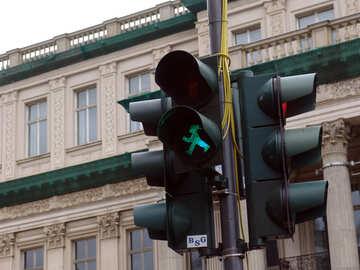 Grüne Ampel für Fußgänger №11510