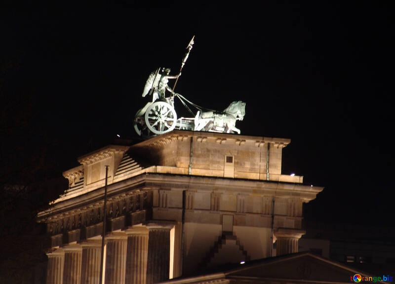 Brandenburg Gate.Chariot.Night. №11492