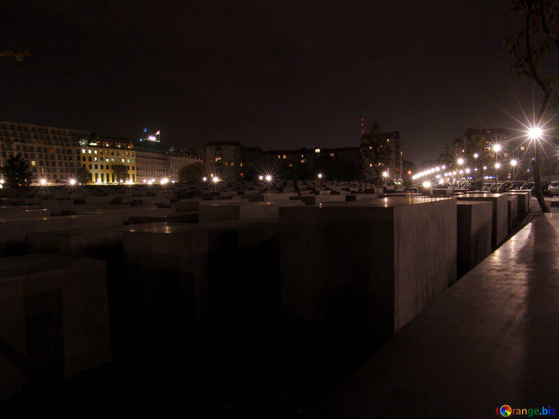 Monument to the Murdered Jews of Europe at night №11505