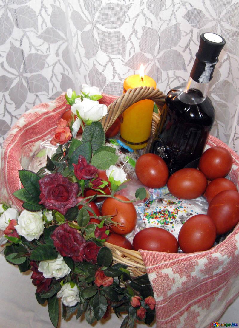 Традиционная Пасхальная корзина №11474