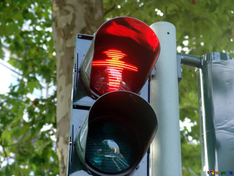 Semaforo rosso per i pedoni №11721