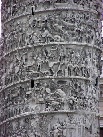 Das Basrelief auf die Spalte von Marcus Aurelius №12392