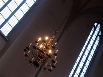 Antike Kronleuchter für Kerzen №12153