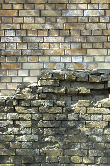 New brickwork on the old.Texture. №12801