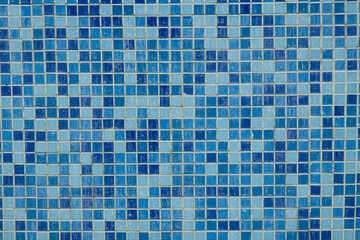 Texture.Blue mosaic tiles in the bath. №12772