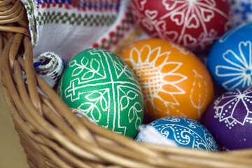 Eier in Korb №12265