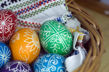 Easter eggs in basket №12260