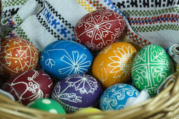 Easter eggs in basket №12264