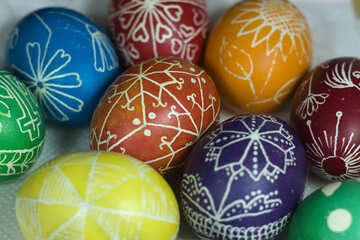 Colored Easter eggs №12271