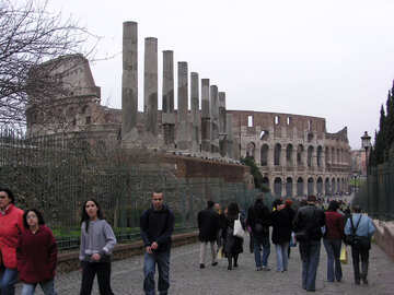 Tourists near the Coliseum №12596
