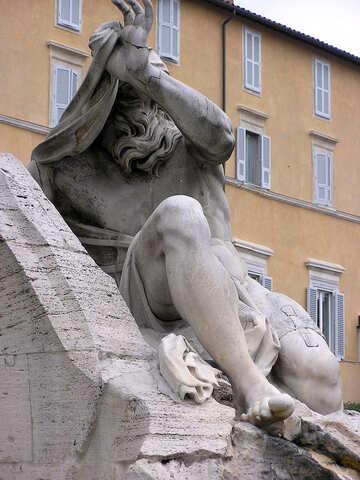 Escultura en los ríos de fuente cuatro №12497