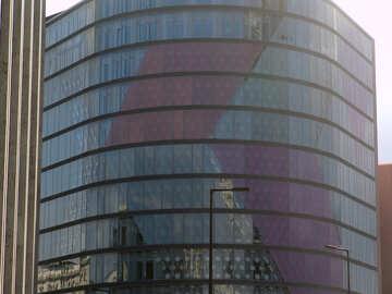Round glass facade №12003