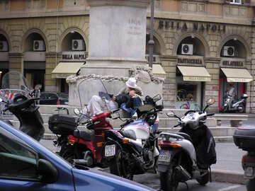Römische Motorradfahrer №12374