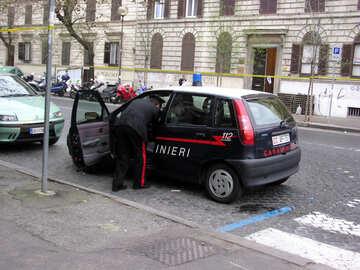 Ein Polizeiauto №12516