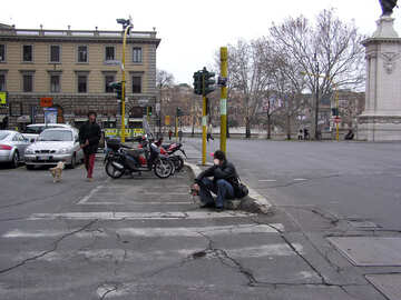 Sits on pedestrian crossing №12490