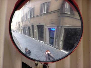 Road round mirror №12518