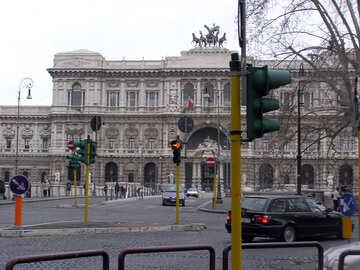 Crossroads.Rome.Traffic lights. №12564
