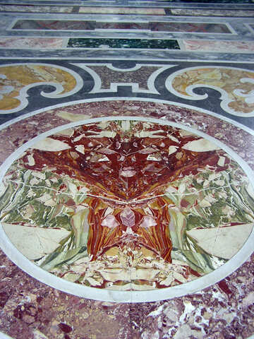 Piso de mosaico de mármol №12551