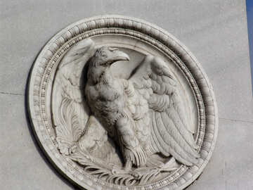 Bas-relief of an eagle №12177