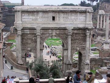 Turistas en Roma №12370