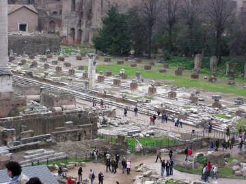 Turisti di rovine storiche №12539