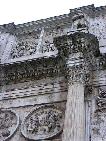 Sculptures on the triumphal arch of Constantine №12425