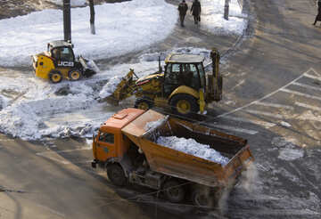 Removing snow from roads №12671