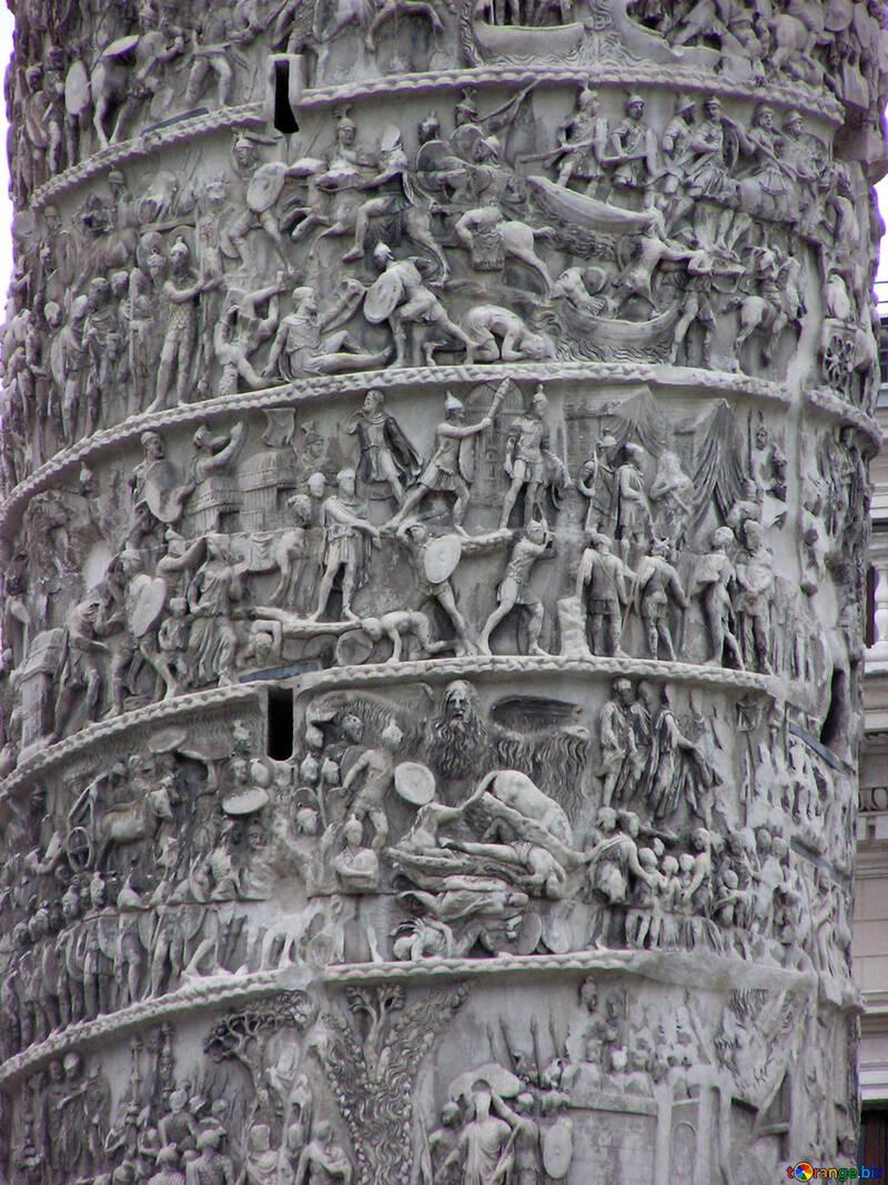 The bas-relief on the Column of Marcus Aurelius №12392