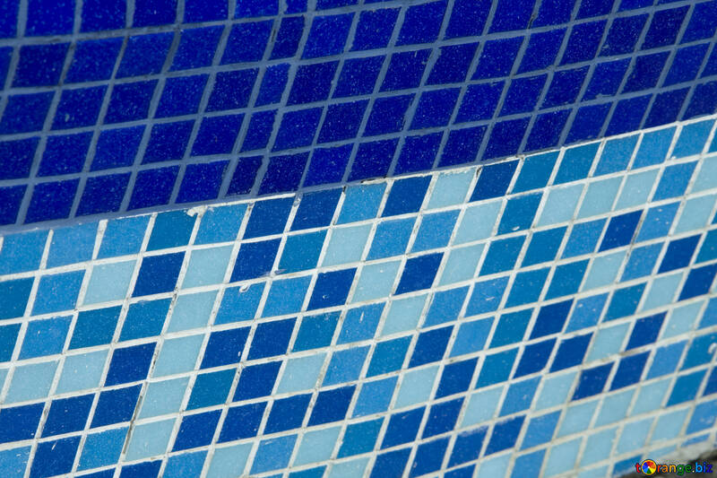 Blue and blue mosaic tiles №12880