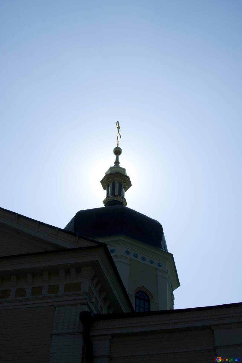 Солнце над церковью №12784