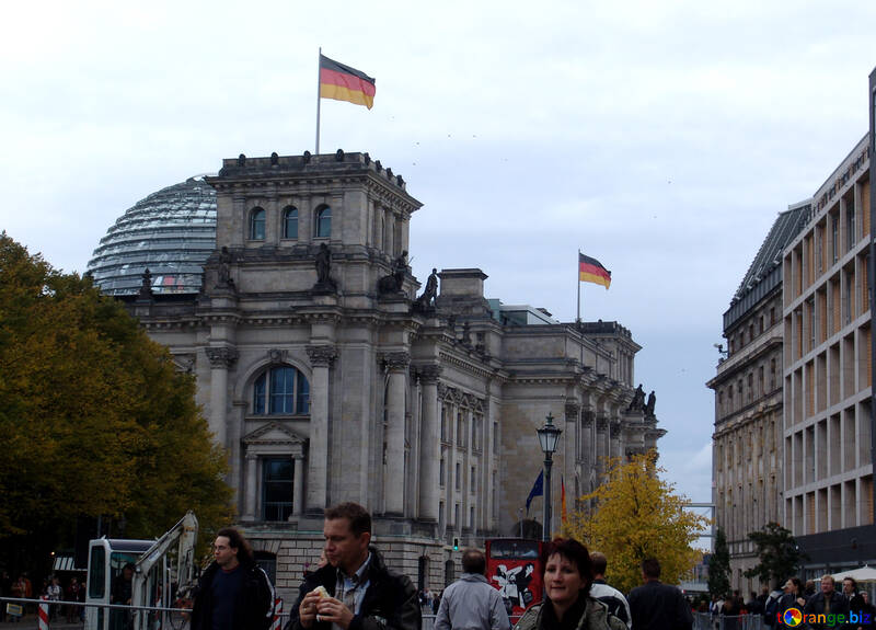 German flags on the building №12073