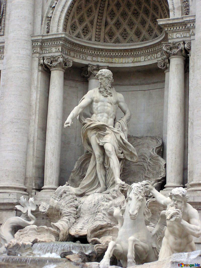 Escultura de Neptuno en la fuente De Curiosidades №12552