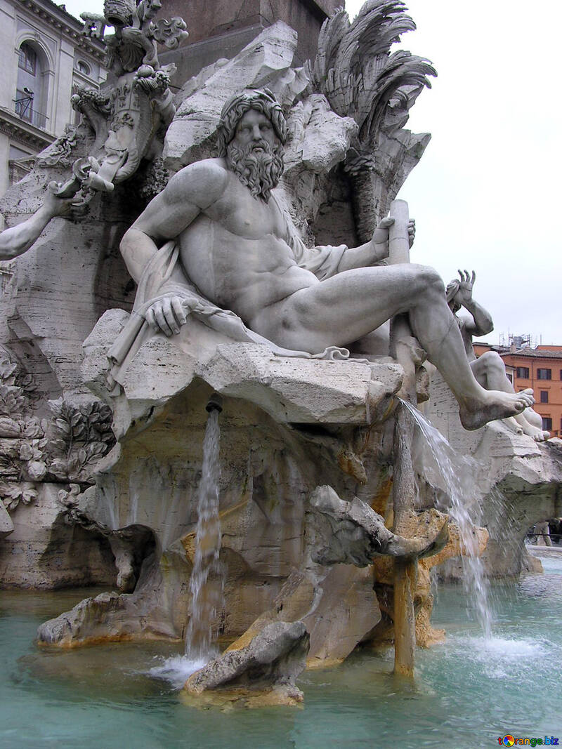 Sculpture in the fountain №12402