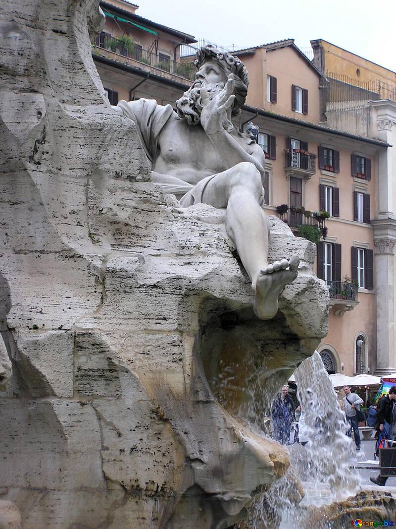 Skulptur in den Brunnen der vier Flüsse. №12513