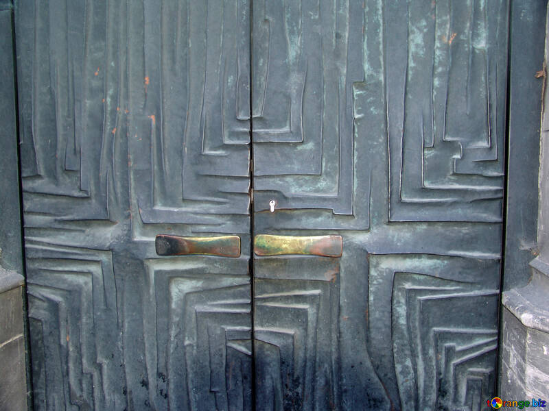 Cancello in ferro.Pattern.Texture. №12026