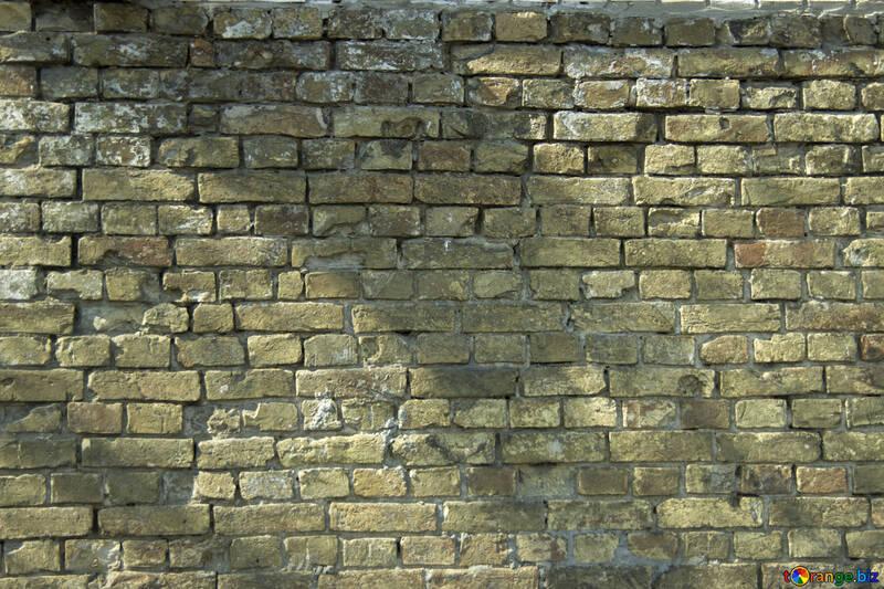 Texture. Un vecchio muro di mattoni №12758