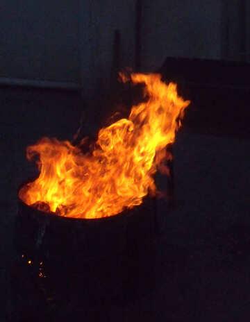 Flame in barrel №13532