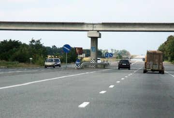 U-turn under the bridge №13325
