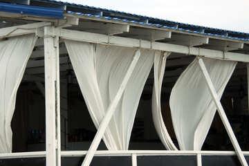 Curtains sail on the veranda №13740