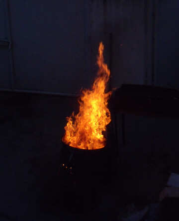 A fire in barrel №13556