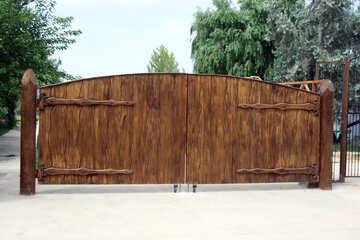 Wooden gate №13388