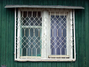 Window with visor and grating №13787