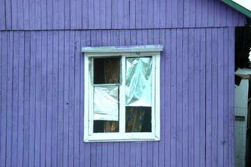 Die Textur der alten Fenster mit Folie №13729