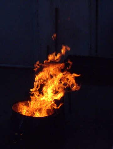 Feuer in der Nacht №13481