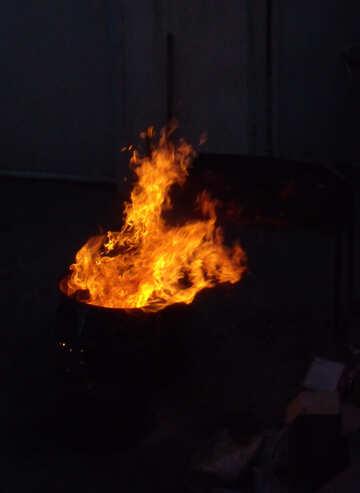Burning garbage №13600