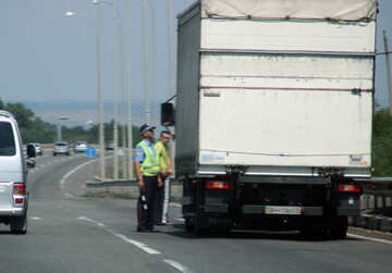 Policeman stopped violators №13216