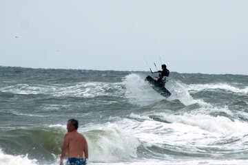 Kitesurfen am Strand №13421