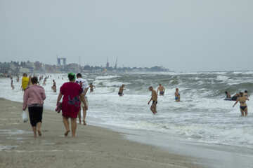 Menschen im kalten Meer №13471