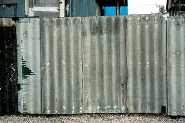 Ein Zaun, aus Schiefer.Textur.